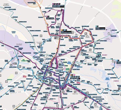 Ametis les nouveaut s du plan de circulation des bus d for Plan d amiens