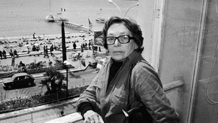 Marguerite Duras en 1977 au Festival de Cannes