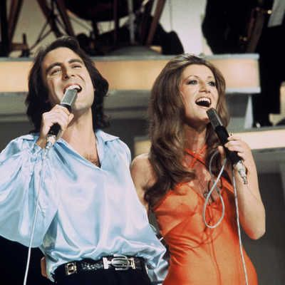 Michel Delpech et Sheila dans une émission de variété en 1975