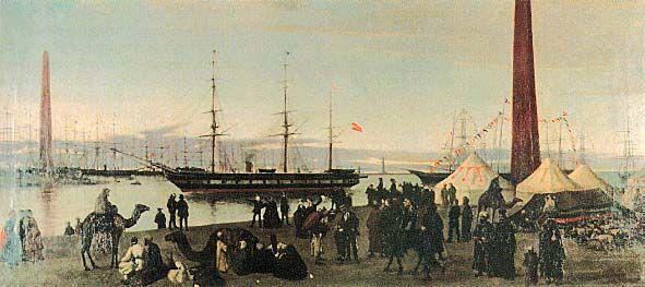 Le canal de Suez avant son inauguration en 1869