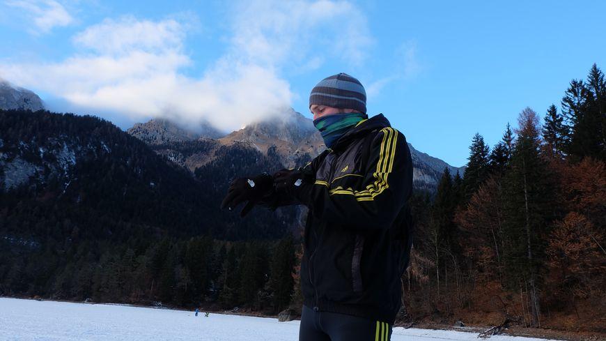 Romain Geny s'est préparé aux conditions extrême autour de lacs gelés