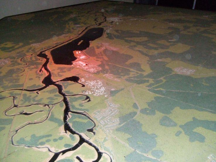 Vue aérienne au musée de Tchernobyl, 20 ans après la catastr