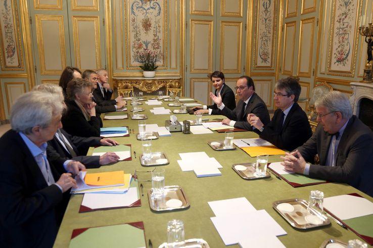 François Hollande reçoit une délégation de scientifiques le 30 mai 2016