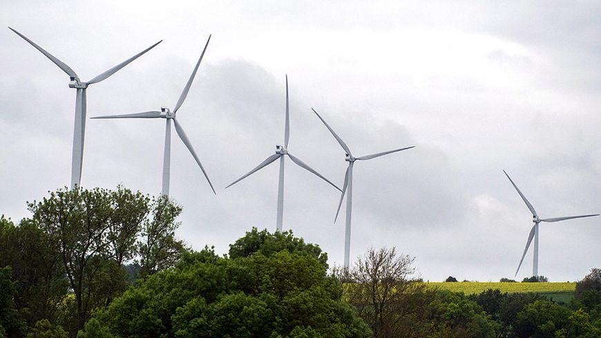 Éoliennes dans l'Aude.