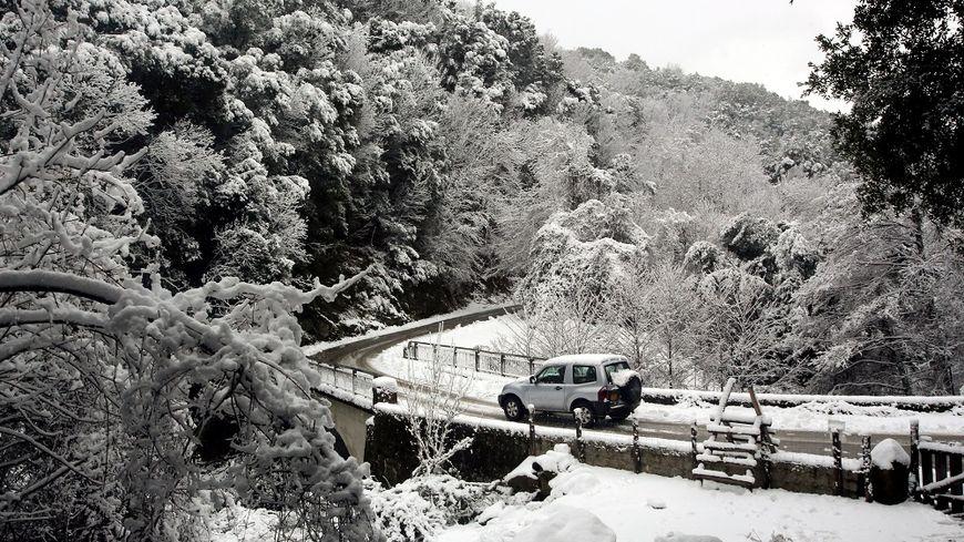 La Corse notamment est sous la neige en ce début de semaine.