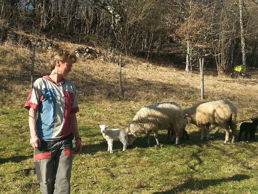 Uta Adler élève une trentaine de brebis à Lods depuis quatre ans. - Radio France