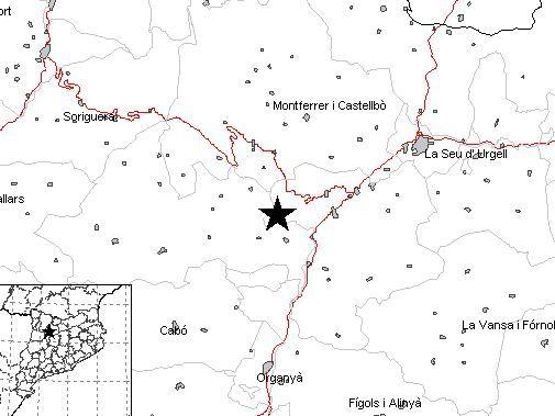 La carte du séisme enregistré en Catalogne le lundi 20 février 2017 - Aucun(e)
