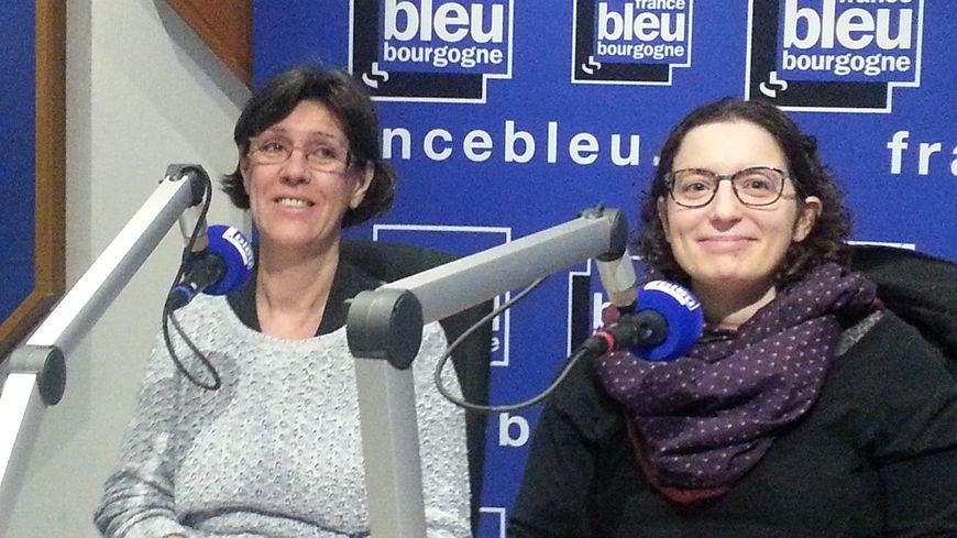 Laurence Cavina et Mélanie Millerand, de l'association Trisomie 21 Côte-d'Or