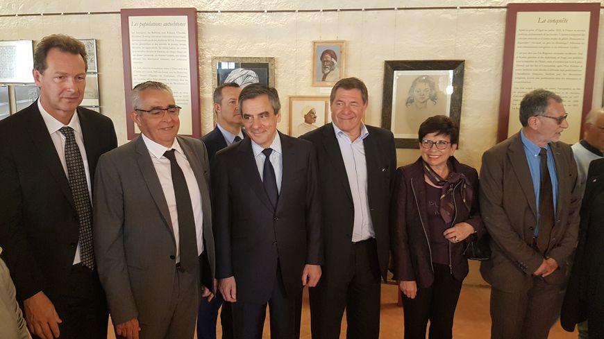 François Fillon avec des élus des Pyrénées-Orientales