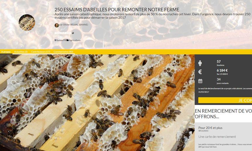 L'apiculteur a lancé une souscription sur la plateforme de financement participatif Multiplee pour pouvoir redémarrer son activité. - Aucun(e)
