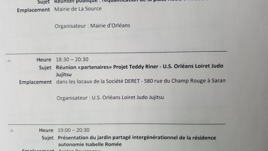 Agenda du maire d'Orléans - Radio France