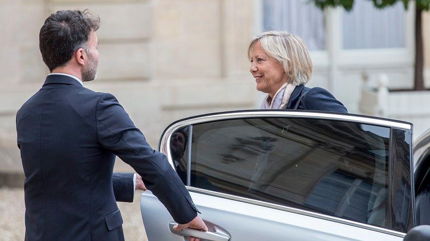 """Sophie Cluzel a choisi une """"maison partagée"""" de Rungis (Val-de-Marne) pour son premier déplacement en tant que secrétaire d'État en charge du handicap."""