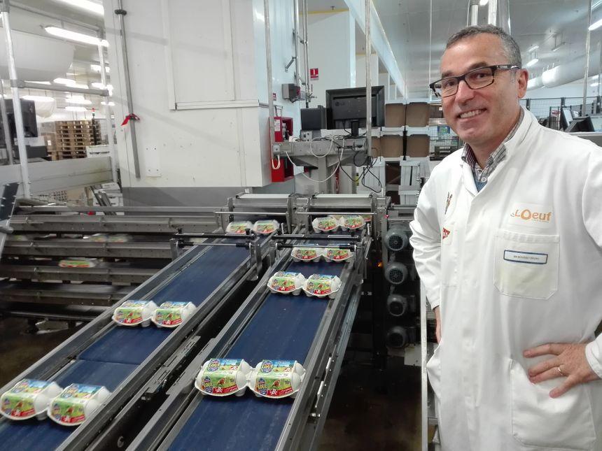 Bruno Mousset, le directeur du centre de conditionnement des œufs de Loué - Radio France